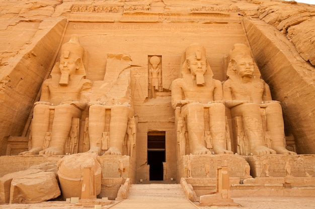 Rock temple of rameses ii at abu simbel, a unesco world heritage site, egypt