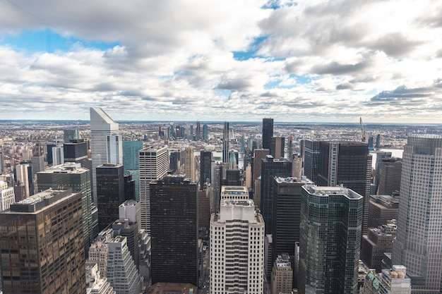 Rock top viewpoint in new york