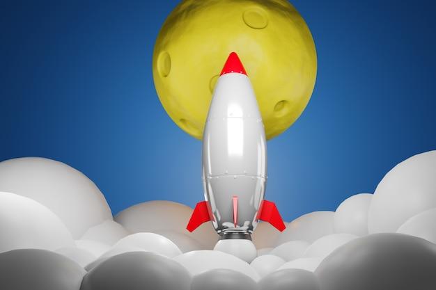 月に飛ぶロケット