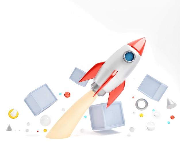 白で隔離のロケット。