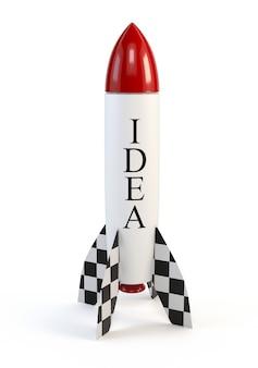 Rocket isolated on white background.