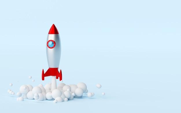 地上から打ち上げられるロケット