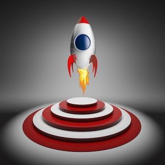 Rocket and target