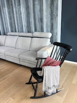 Rocking chair in the room