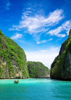 Rocks and sea, tropical landscape