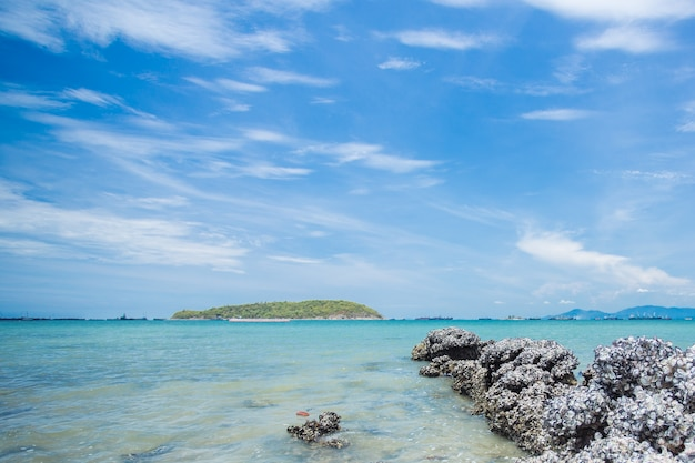 The rocks on seaside , sri chang island,thailand