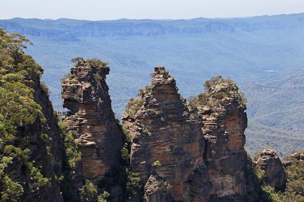 Скалы три сестры, голубые горы национальный парк, австралия