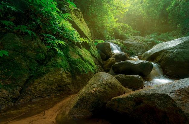 Rocks at waterfall