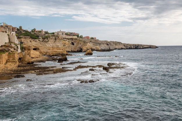 Rocky coast of the sea, beautiful landscape