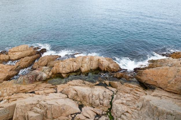 Rocky coastline maritime wave Premium Photo