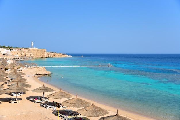 Rocky sea beach hotel in egypt