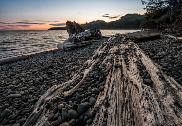 밴쿠버에서 바위 바다