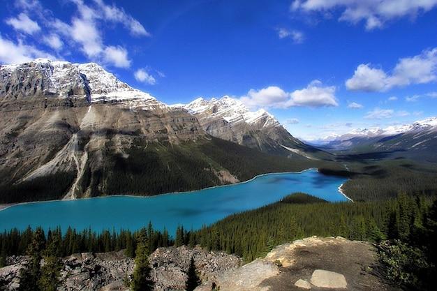 Rockysペイト湖mopuntains風景フランス系カナダ人