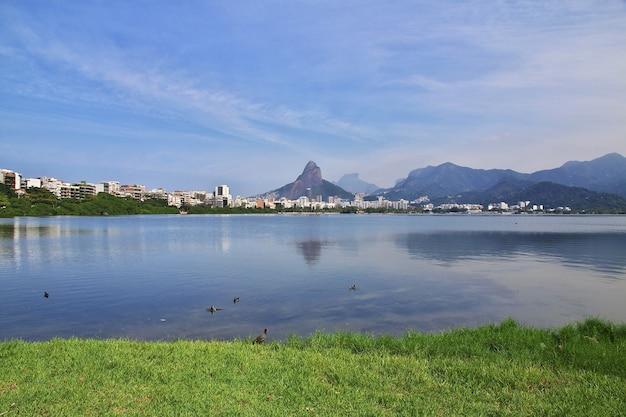 Rodrigo de freitas lagoon in rio de janeiro, brazil
