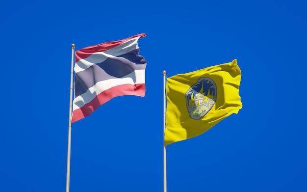 Roi-etタイ州の州旗。 3dアートワーク