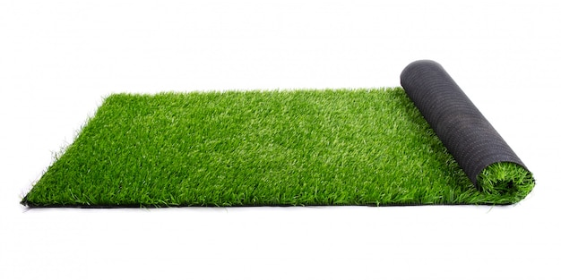 Roll of artificial green grass