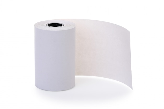 Roll of blank thermal paper for cash register machine