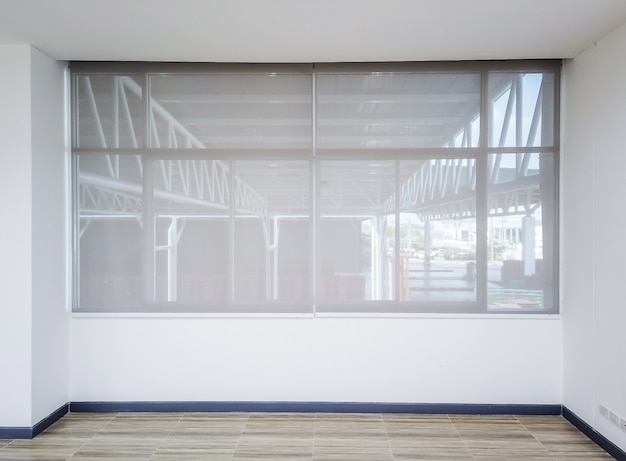 Roll blinds on the windows. beautiful blinds on the window, the sun and heat protection