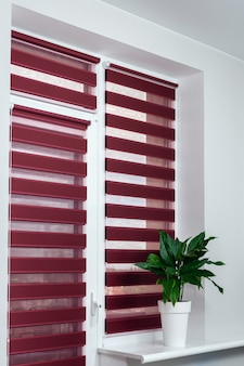Roll blinds on the windows to protect sunlight
