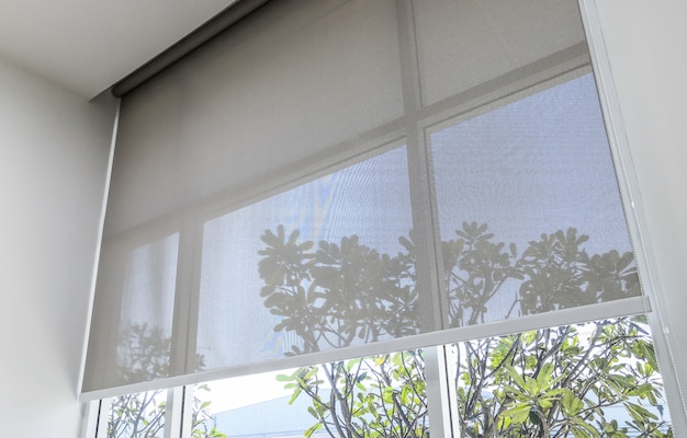 Roll blinds on the windows, the sun does not penetrate the house.