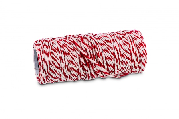 Roll of mail rope isolated