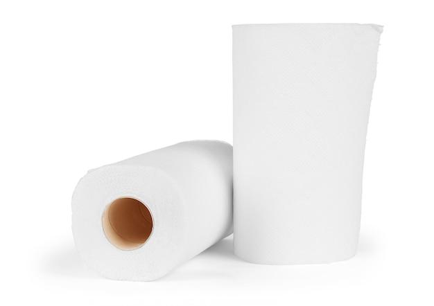 흰색 절연 종이 주방 수건 롤