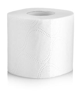 Рулон туалетной бумаги или ткани, изолированные на белом фоне