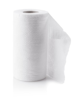 Roll of paper kitchen towels isolated