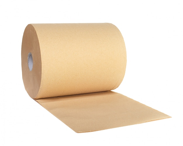 Roll of recycled paper