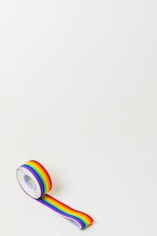 Roll of ribbon in lgbt colors