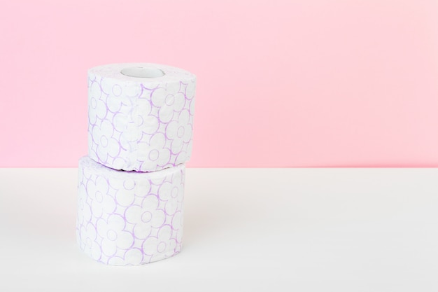 Roll of toilet paper or tissue