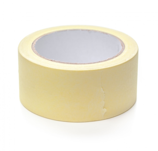 Roll of transparent sticky tape isolated