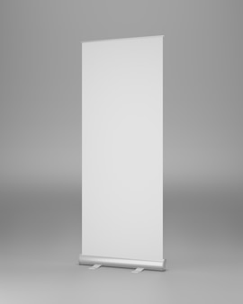 Roll up mockup stand half view