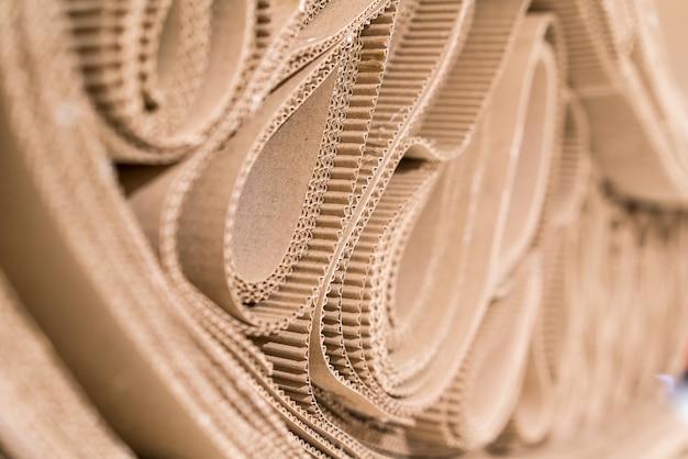 Roll of wavy craft paper folded in random.