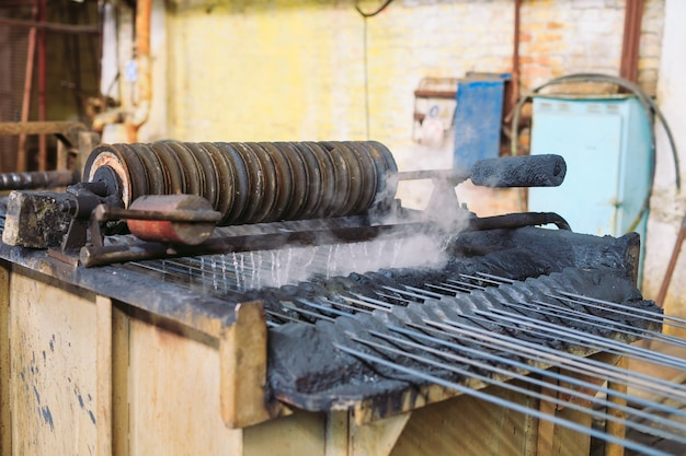 Rolled wire production at the metallurgical plant