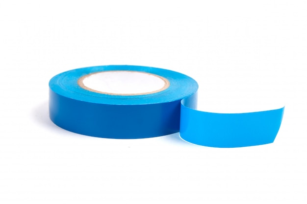 Rolls of colored insulating tape isolated