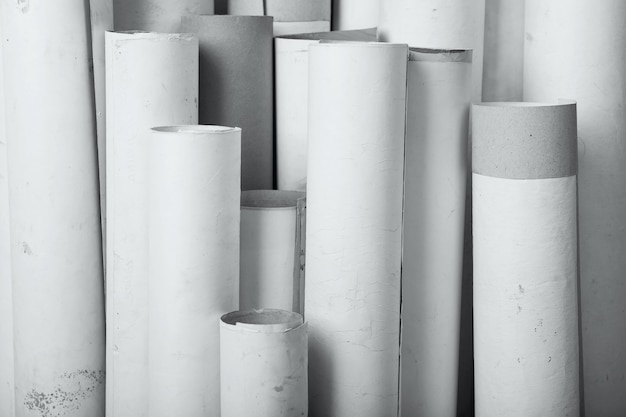 Rolls of old paper background texture