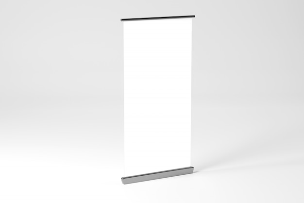 Rollup ad banner - 3d rendering