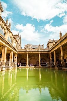 Roman baths in the city of bath.