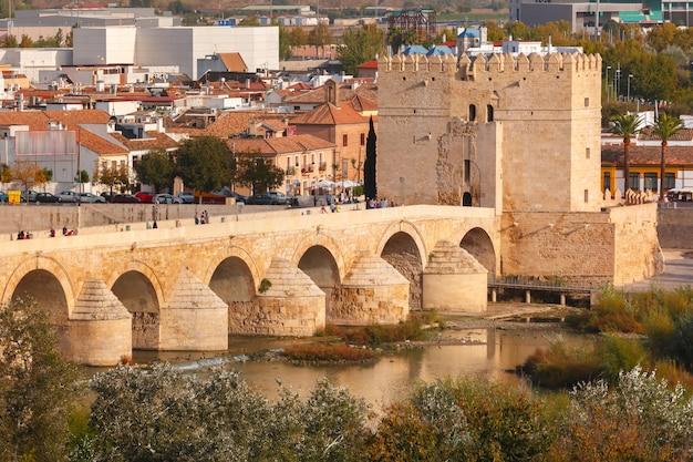 Римский мост и башня калаорра, кордова, испания