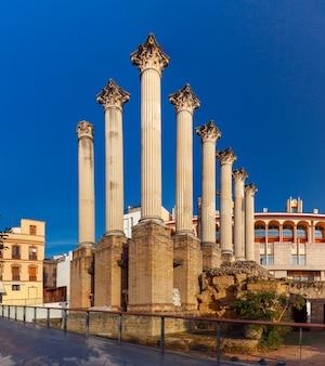 Roman columns of the temple, cordoba, spain