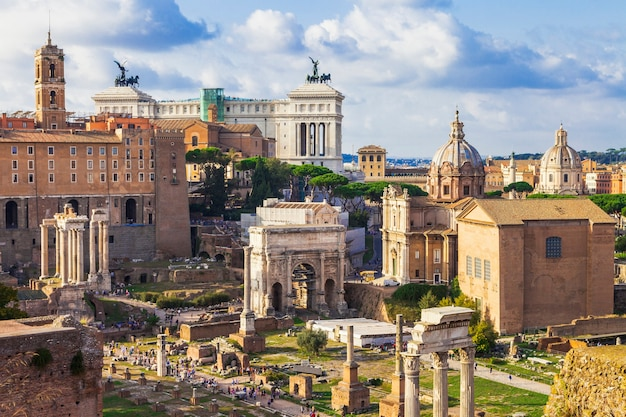 Roman forums - greatest archeological site . italy