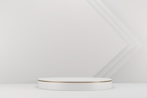 배경 화강암 흰색에 화장품에 대한 로마 연단 흰색. 3d 렌더링