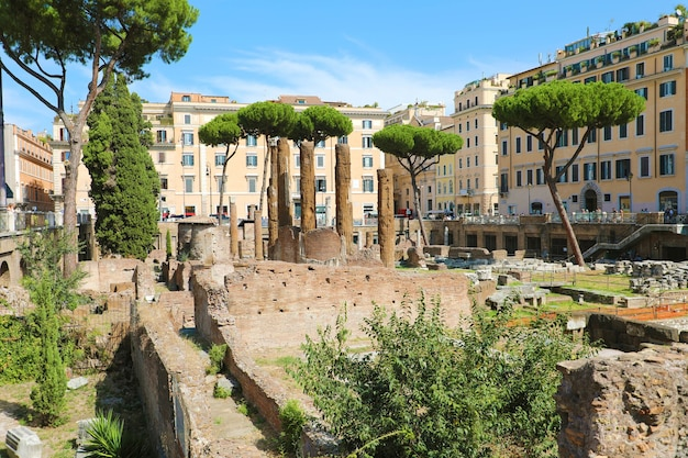 Roman republican temples and the remains, rome, italy