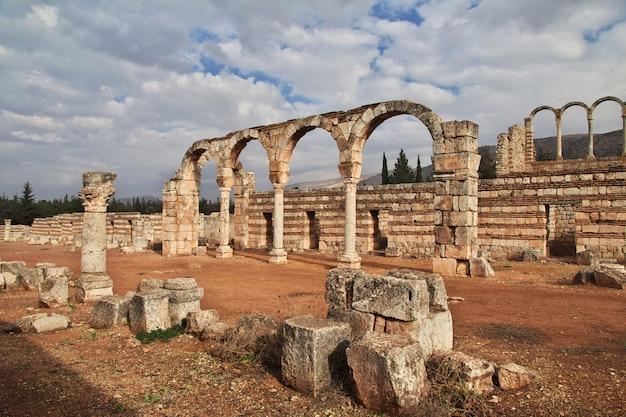 Roman ruins in anjar, lebanon