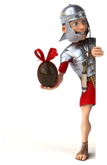 Roman soldier character isolated