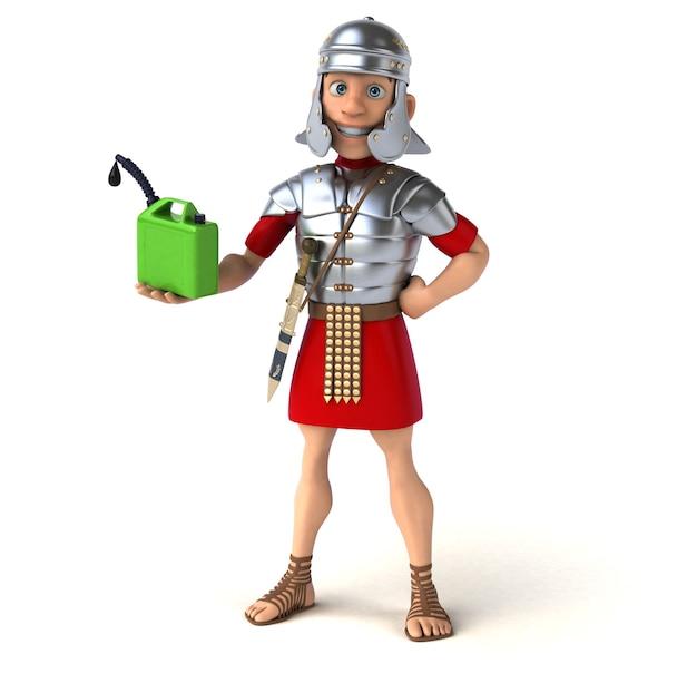 Римский солдат держит получателя нефти