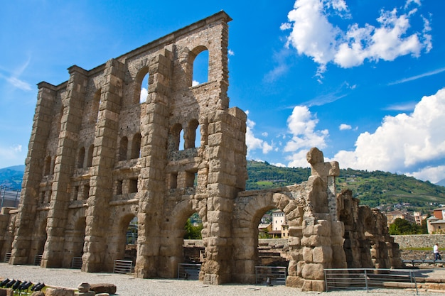 Roman theater in aosta