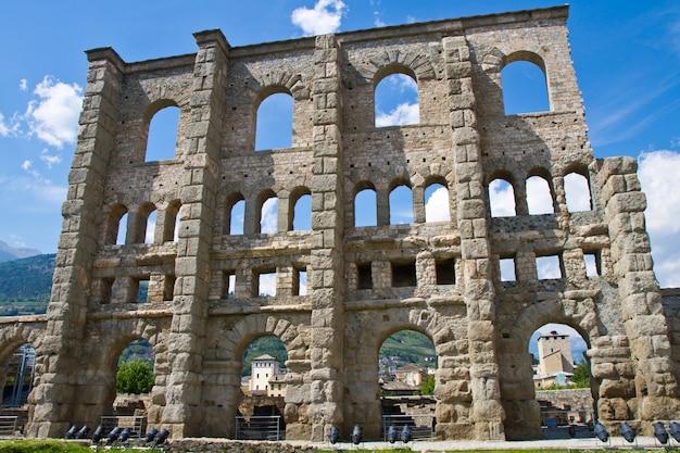 Roman theater in aosta