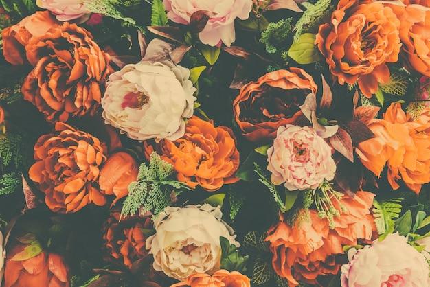 Colore di sfondo floreale bianco storia d'amore